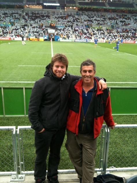 Dad & I catch England vs Romania