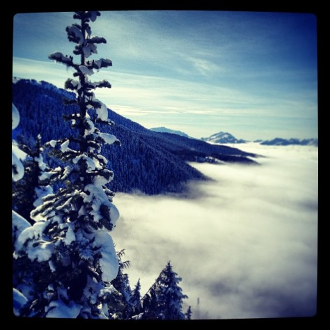 Above the clouds reminding me of Treble Cone's inversion
