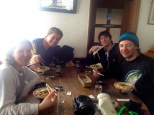 Fine dining on Myoko with Jonesy, Keith & Abby