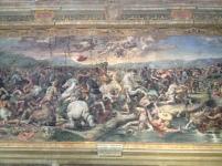Incredible canvas near the Sistine Chapel