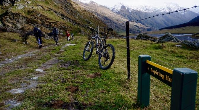 Riding into the Alps | Aspiring Hut bike packing
