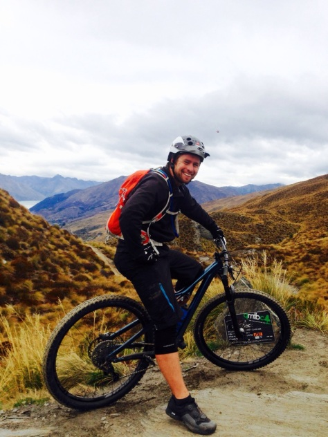 The trail riding and smiles continue - RUDE rock Coronet Peak. Photo: Broni